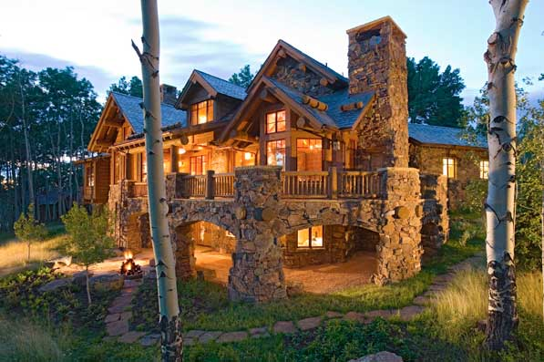 Cheap Log Cabin Homes Kits Construction Buys likewise Design Ideas Architectural also Mountain Modern also Natural Wooden House Blend Surrounding Great Barrier House furthermore Farmhouse Great Room Decorating Ideas Dining Room Rustic With Open Floor Plan Incandescent Chandeliers. on contemporary rustic mountain home plans